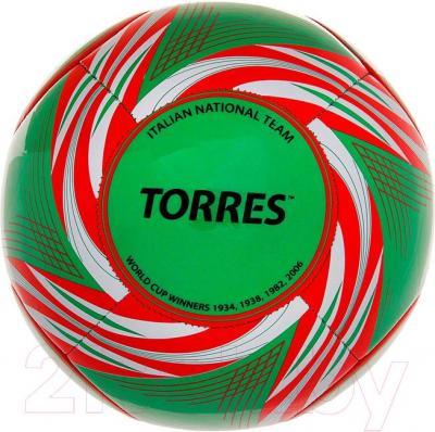 Футбольный мяч Torres WC2014 Italy (Green) - общий вид