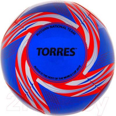 Футбольный мяч Torres WC2014 Russia (Blue) - общий вид