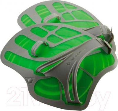 Лопатки для плавания Aqua Sphere 301315 ErgoFlex (серо-зеленый) - общий вид