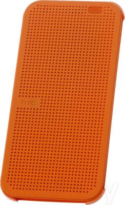 Чехол-книжка HTC Dot View Flip Case HC M100 (оранжевый) - общий вид