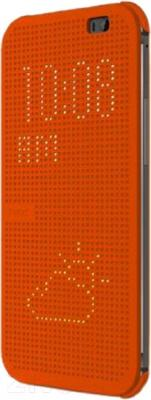 Чехол-книжка HTC Dot View Flip Case E8 HC M110 (оранжевый) - общий вид