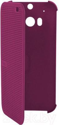 Чехол-книжка HTC Dot View Flip Case E8 HC M110 (фиолетовый) - общий вид
