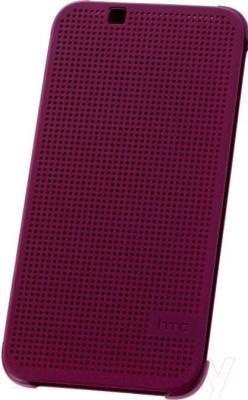 Чехол-книжка HTC Dot View Flip Case HC M130 (фиолетовый) - общий вид
