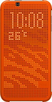 Чехол-книжка HTC Dot View Flip Case HC M130 (оранжевый) - общий вид