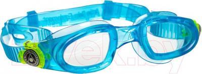 Очки для плавания Aqua Sphere Moby Kid 167900 (бело-голубой) - общий вид