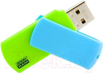 Usb flash накопитель Goodram Colour Mix 4Gb (PD4GH2GRCOMXR9) - общий вид