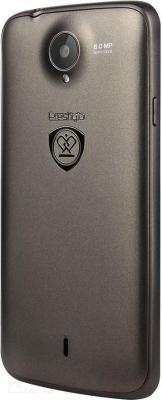 Смартфон Prestigio MultiPhone 3502 Duo (металлик) - вид сзади