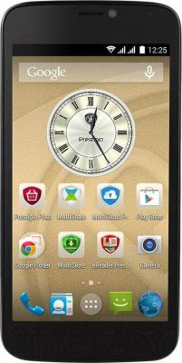 Смартфон Prestigio MultiPhone 3502 Duo (металлик) - общий вид