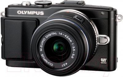 Беззеркальный фотоаппарат Olympus E-PL5 Kit 14-42mm II R (Black) - общий вид