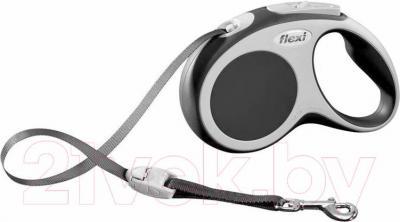 Поводок-рулетка Flexi Vario 12060 (S, антрацит) - общий вид