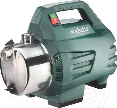 Садовый насос Metabo P 4500 Inox - общий вид