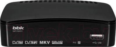 Тюнер цифрового телевидения BBK SMP129HDT2 (черный) - общий вид