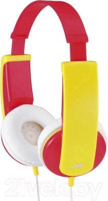 Наушники JVC HA-KD5 (красный/желтый) - общий вид