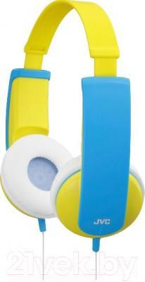 Наушники JVC HA-KD5 (желтый/голубой) - общий вид