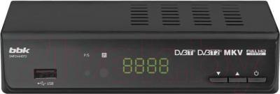 Тюнер цифрового телевидения BBK SMP244HDT2 (темно-серый) - общий вид