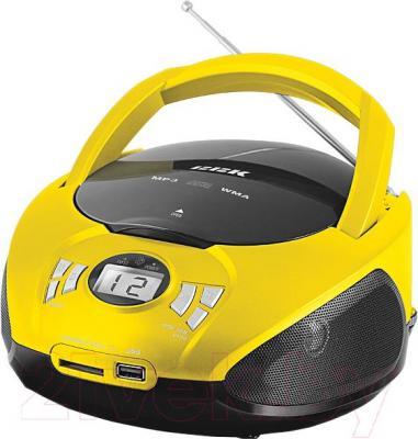 Магнитола BBK BX105U (черно-желтый) - общий вид