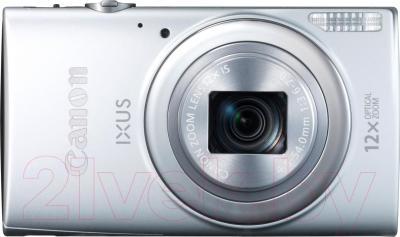 Компактный фотоаппарат Canon IXUS 265 HS (серебристый) - вид спереди