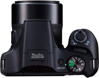 Компактный фотоаппарат Canon PowerShot SX520 HS (Black) - вид сверху