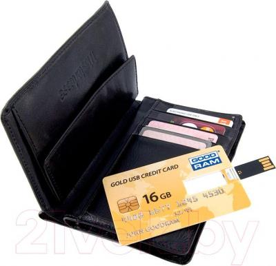 Usb flash накопитель Goodram Gold USB Credit Card 4GB (PD4GH2GRCCPR9)  - с портмоне