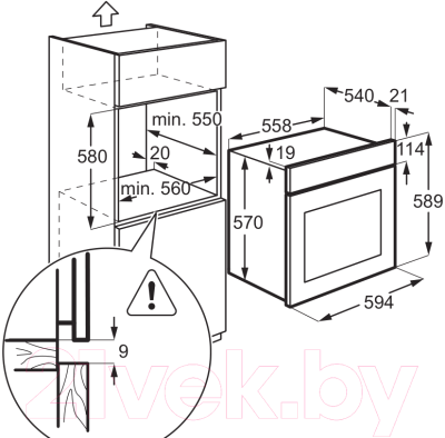 Электрический духовой шкаф Electrolux EZB52410AK