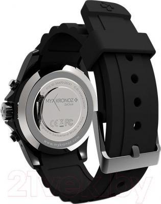 Интеллектуальные часы MyKronoz ZeClock (черный) - вид сзади