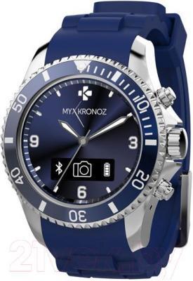 Интеллектуальные часы MyKronoz ZeClock (синий) - общий вид