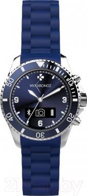 Интеллектуальные часы MyKronoz ZeClock (синий) - фронтальный вид