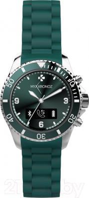 Интеллектуальные часы MyKronoz ZeClock (зеленый) - фронтальный вид