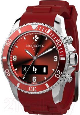 Интеллектуальные часы MyKronoz ZeClock (красный) - общий вид