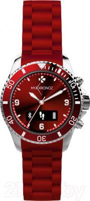Интеллектуальные часы MyKronoz ZeClock (красный) - фронтальный вид