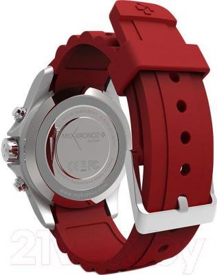 Интеллектуальные часы MyKronoz ZeClock (красный) - вид сзади