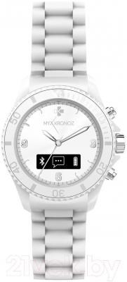Интеллектуальные часы MyKronoz ZeClock (белый) - фронтальный вид