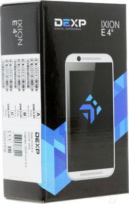 "Смартфон DEXP Ixion E 4"" (белый) - упаковка"