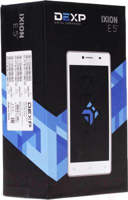 "Смартфон DEXP Ixion E 5"" (белый) - упаковка"