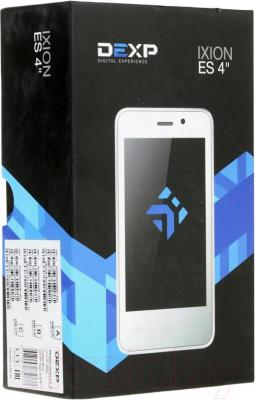 "Смартфон DEXP Ixion ES 4"" (белый) - упаковка"