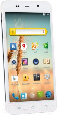 "Смартфон DEXP Ixion MS 5"" (белый) - общий вид"