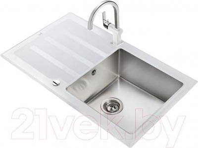 Мойка кухонная Teka Lux 1C1E (белый) - общий вид