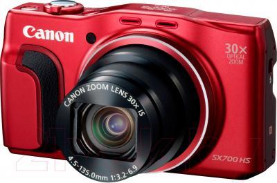 Компактный фотоаппарат Canon PowerShot SX700 HS (красный) - общий вид