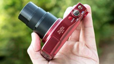 Компактный фотоаппарат Canon PowerShot SX700 HS (красный) - в использовании