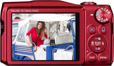 Компактный фотоаппарат Canon PowerShot SX700 HS (красный) - вид сзади