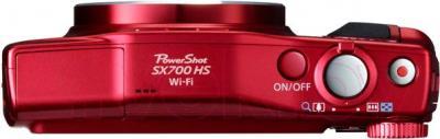Компактный фотоаппарат Canon PowerShot SX700 HS (красный) - вид сверху