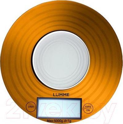 Кухонные весы Lumme LU-1317 (золотой в круги) - общий вид