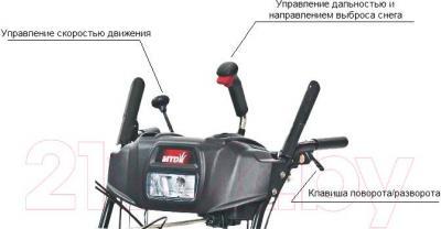 Снегоуборщик MTD Optima ME 66 T - панель управления