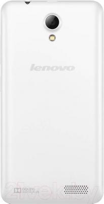 Смартфон Lenovo A319i Music (белый) - вид сзади