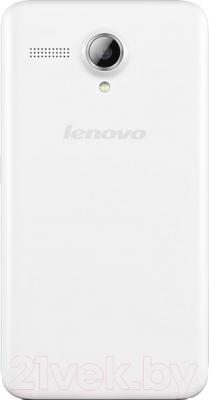 Смартфон Lenovo A606 (белый) - вид сзади