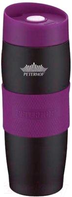 Термокружка Peterhof PH-12419 (черный/фиолетовый)