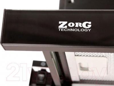 Вытяжка телескопическая Zorg Technology Breeze II 60 IS G (нержавейка/черное стекло) - стеклянная планка