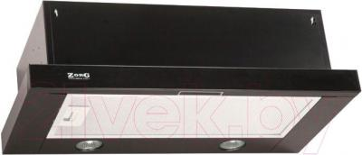 Вытяжка телескопическая Zorg Technology Breeze II 60 G (черное стекло) - общий вид