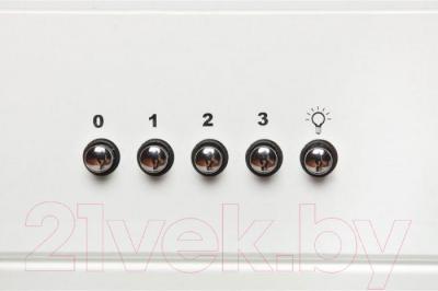 Вытяжка декоративная Zorg Technology Lana 750 (60, белый) - кнопки управления