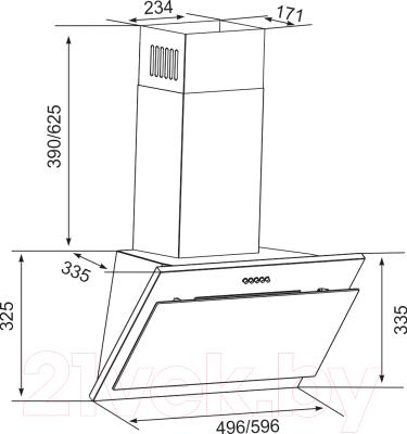 Вытяжка декоративная Zorg Technology Lana 750 (60, черный)